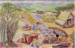 Reconstitution du fourneau à sel de Mosqueros