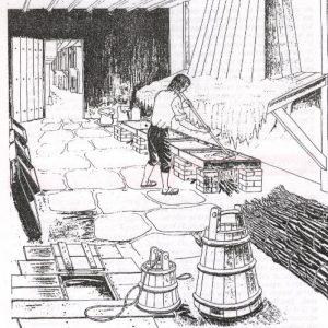 """Reconstitution d'un atelier de """"façonneur de sel"""" d'après les textes du XVIIIème siècle"""